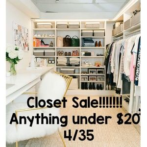 Closet sale bundle 4 items under $20 pay only $35